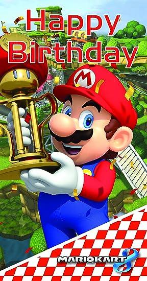 Mario Kart Carte D Anniversaire Inscription Happy Birthday