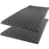 "Foamily Acoustic Foam Sound Absorption Pyramid Studio Treatment Wall Panel, 48"" X 24"" X 2"" (2 Pack)"