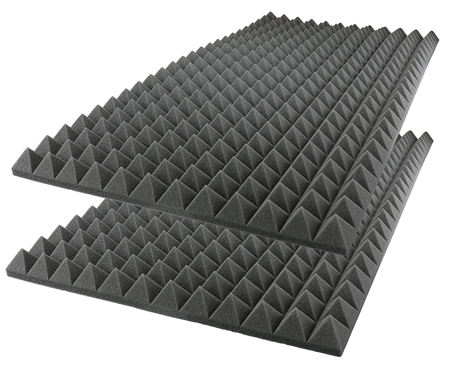 Acoustic Foam Sound Absorption Pyramid Studio Treatment Wall Panel, 48 X 24 X 2 Foamily PYRA-48x24x2