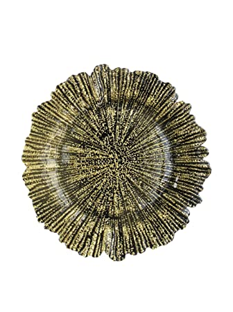 El Cargador de cristal de Jay empresas arrecife placa, oro: Amazon.es: Hogar