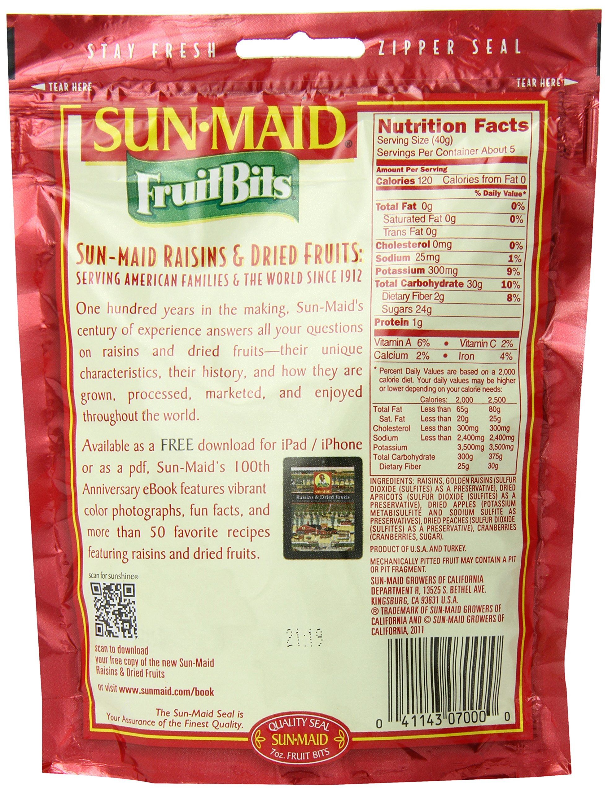 Sun Maid Fruit Bits, 7-Ounce Bags (Pack of 6) by Sun Maid (Image #4)
