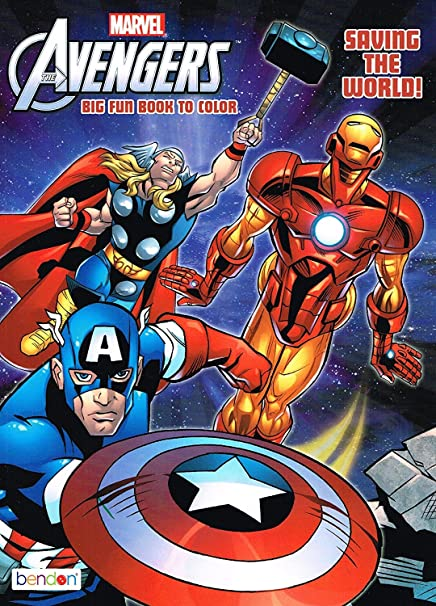 Marvel Mighty AvengersA Coloring And Activity Book Set 2 Books 96 Pgs Each