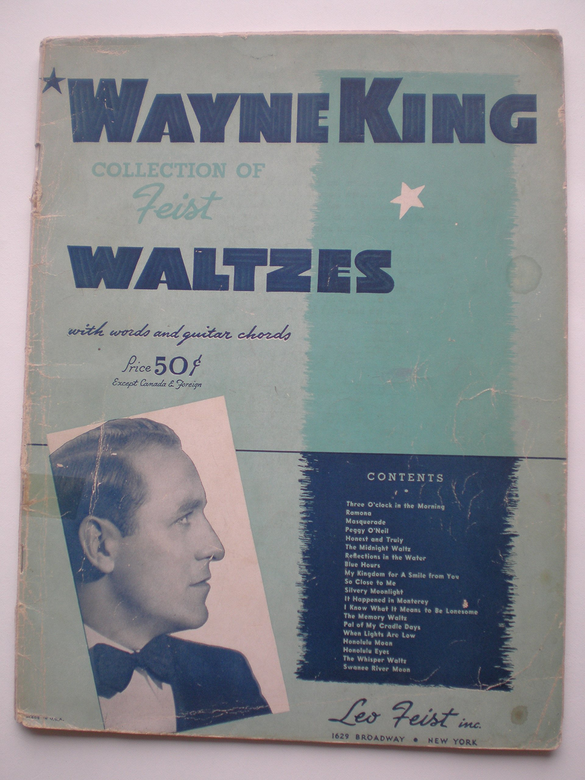 Wayne King Collection Of Feist Waltzes With Words And Guitar Chords