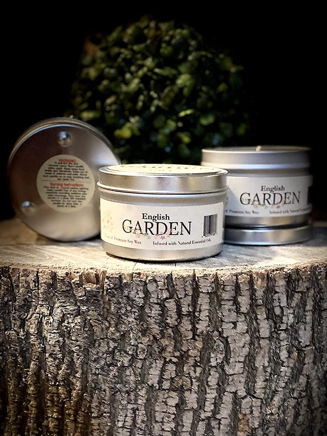 GWE English Garden Floral Aromatherapy Soy Candle for Stress Relief, Relaxation, Anxiety, Comfort & Sleep- Mixed Scents of Lilac, Rose & Jasmine-Soy Wax Infused w/Natural Oils, Made in The U.S.A