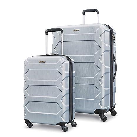 fa900fddd011 Samsonite Magnitude LX 2-Piece Nested Hardside Luggage Set (Spinner  19/Spinner 28), Silver, Checked – Large (Model: 104100-1776)