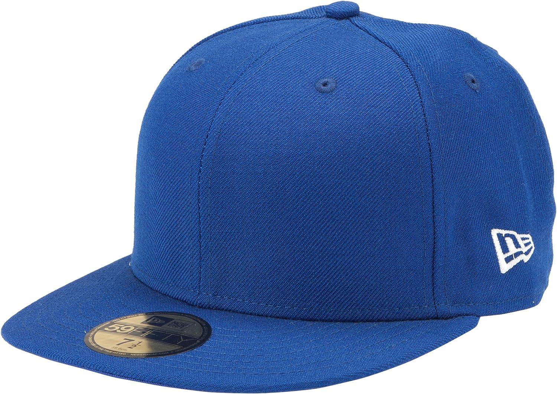 Fitted Baseball Cap Plain Sky Blue Hat Flat Peak Hat 7 1//8