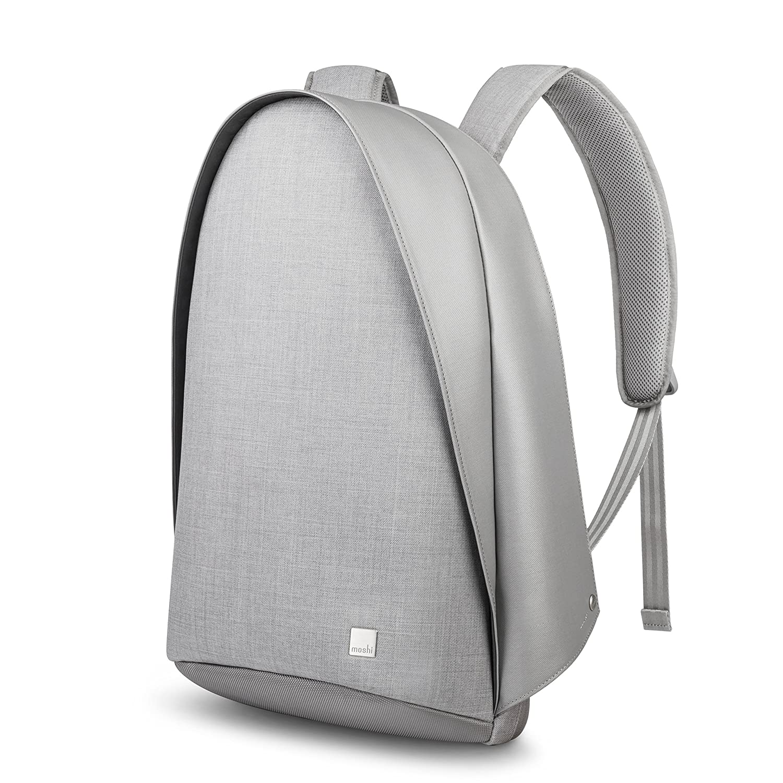 moshi Tego Backpack 防犯性 防刃性 RFID保護ポケット 充電用USBポート搭載 リュック  Stone Gray B07B474PK3