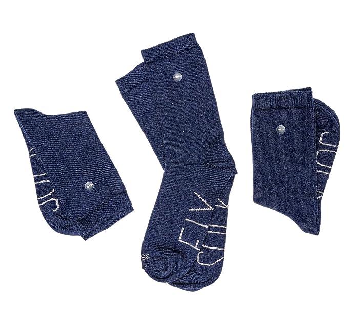 SOCKFIX Calcetines escolares cortos con botón (pack 3 pares) (26-28,
