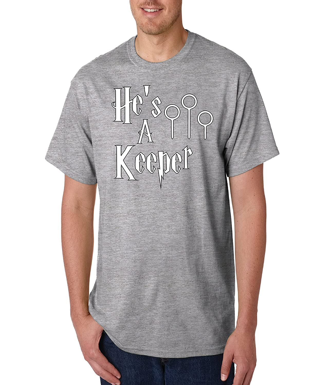 bc7f208d28 He's A Keeper Couples T-Shirt, Couples Gift Wedding, Anniversary, Newlywed  Matching T-Shirts, Vacation Tees, Honeymoon Shirt | Amazon.com