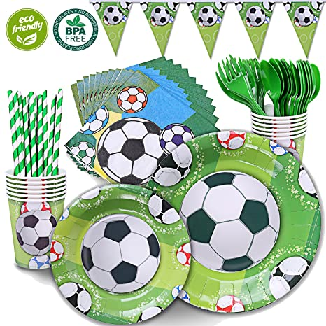 Duocute Soccer Party Supplies Sports Themed Pack Childrens Birthday Supply Set 12 Guests 86
