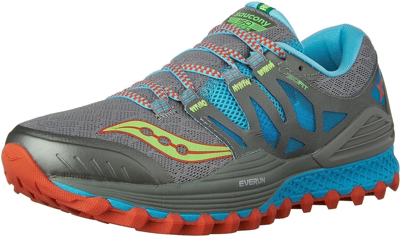 Saucony Women's Xodus Iso Trail Runner B018FAI1CA 9.5 B(M) US|Grey/Blue/Silver