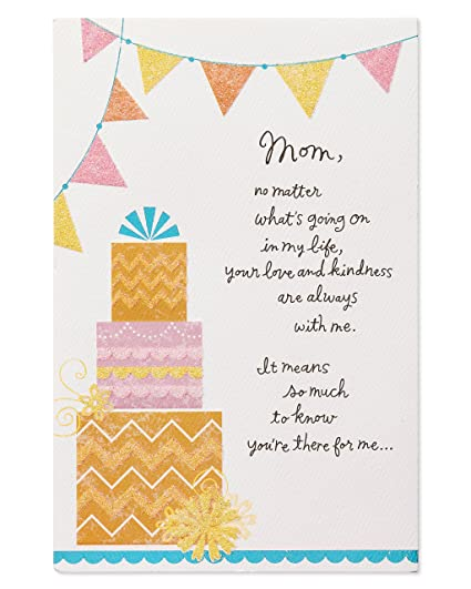 American Greetings Love And Kindness Birthday Card For Mom With Glitter