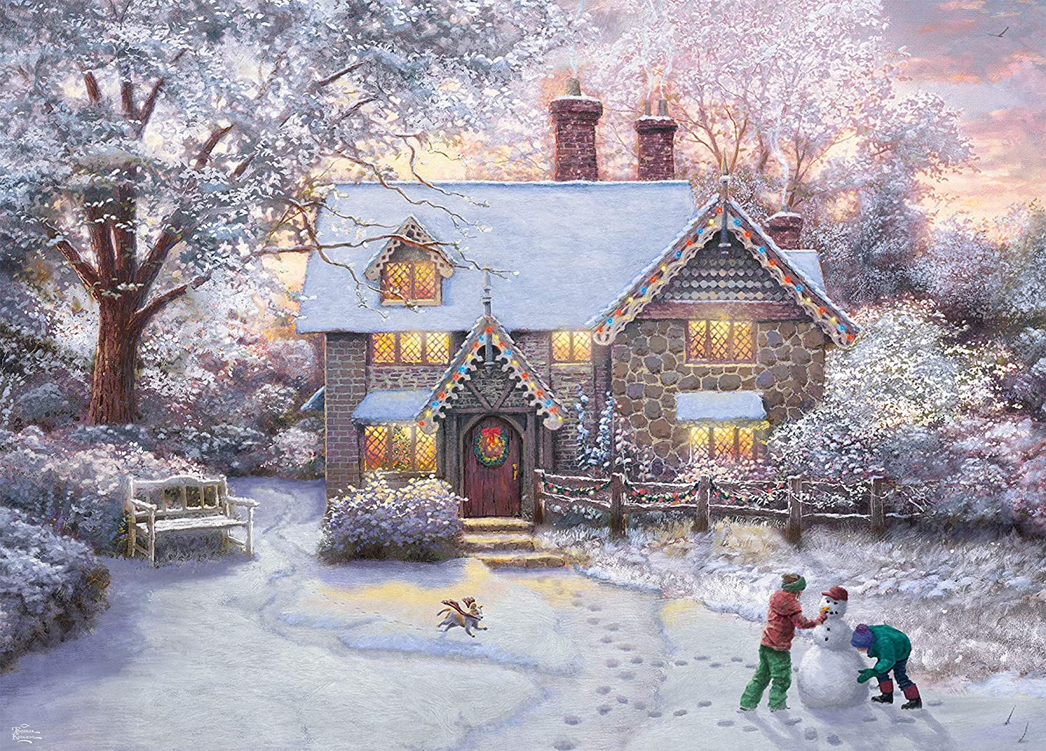 Thomas Kinkade Christmas Cottage 2020 Amazon.com: Thomas Kinkade Christmas at Gingerbread Cottage Puzzle