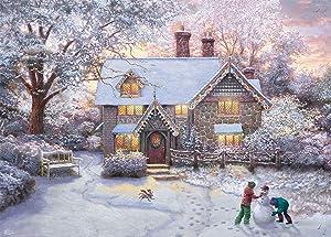 Thomas Kinkade Christmas at Gingerbread Cottage Puzzle - 1000Piece