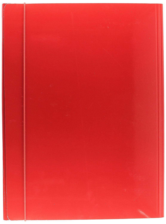 Esselte Carpeta Capacidad de 3 solapas de cartón, Capacidad Carpeta para 250 hojas A4, Cierre elástico, Rojo, 530020 68b32e