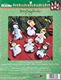 Bucilla Felt Applique Ornament Kit, 3 by 5-Inch, 86668 Mary Engelbreit Let it Snow (Set of 6)