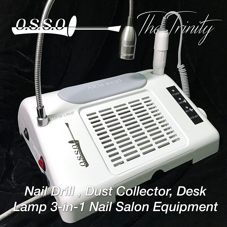 Amazon.com : 35000 RPM Nail Drill Dust Collector Desk Lamp 3-in-1 ...