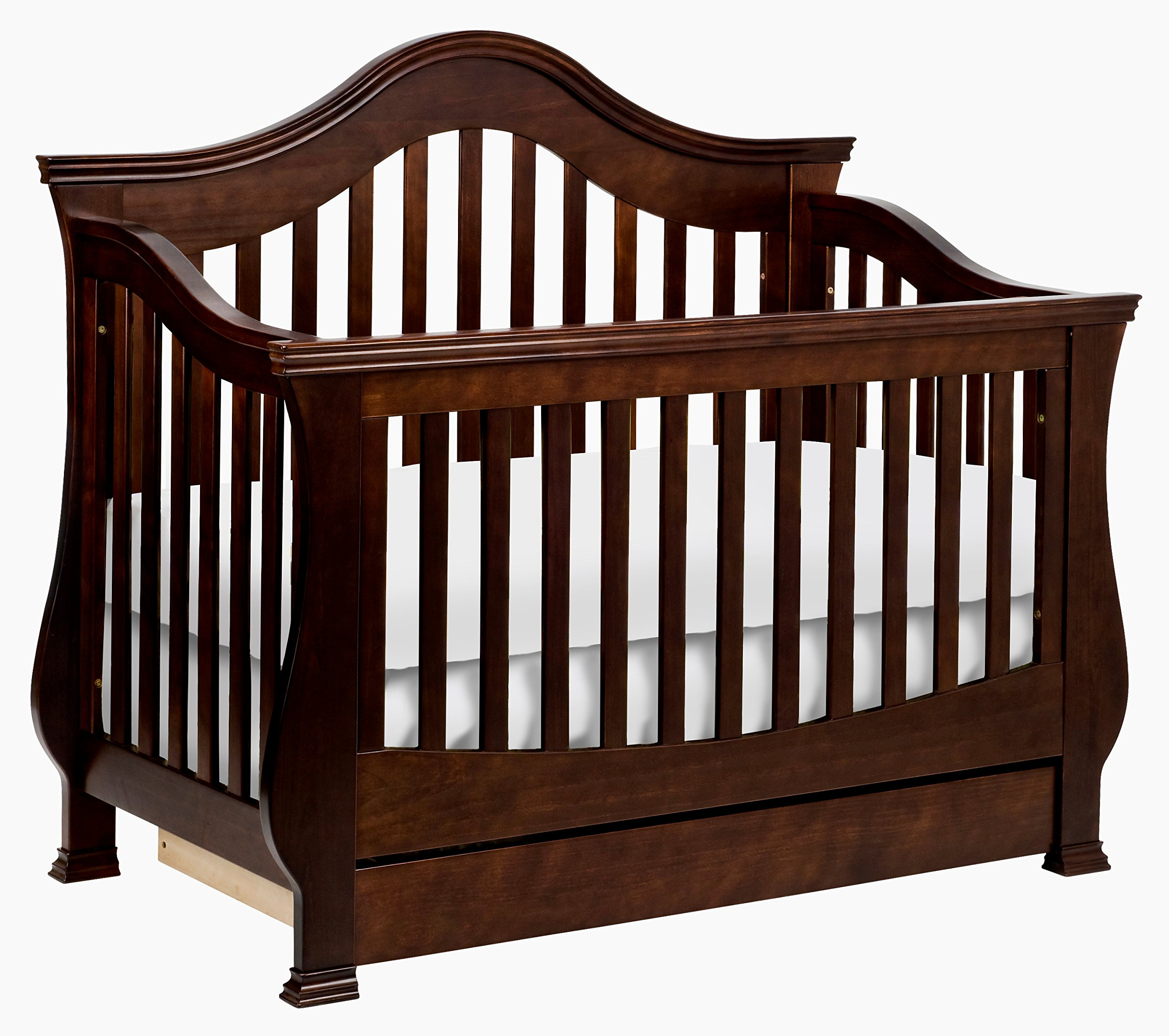 Million Dollar Baby Classic Ashbury 4-in-1 Convertible Crib with Toddler Bed Conversion Kit, Espresso by Million Dollar Baby Classic