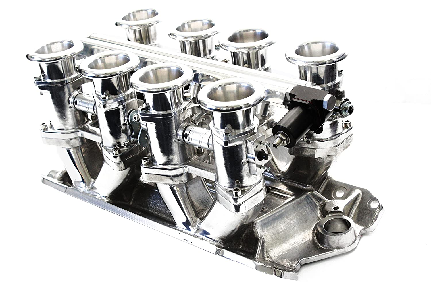 SBC Polished Aluminum EFI Fuel Injection Hilborn Style Down Draft