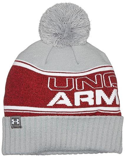 Amazon.com  Under Armour UA Retro Pom Beanie OSFA Red  Sports   Outdoors 5d7f5cbf82