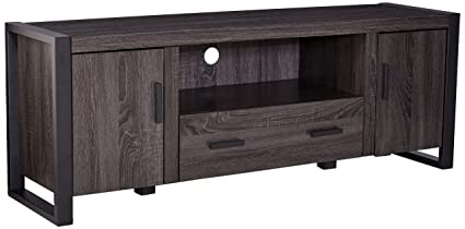 We Furniture Charcoal 60 Industrial Wood Modern Tv Stand Console For Flat Screen Tvs Up To 65