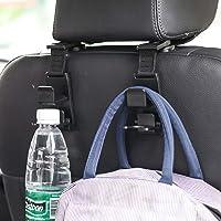 Amooca Car Seat Headrest Hook 4 Pack Hanger Storage Organizer Universal for Handbag Purse Coat fit Universal Vehicle Car…