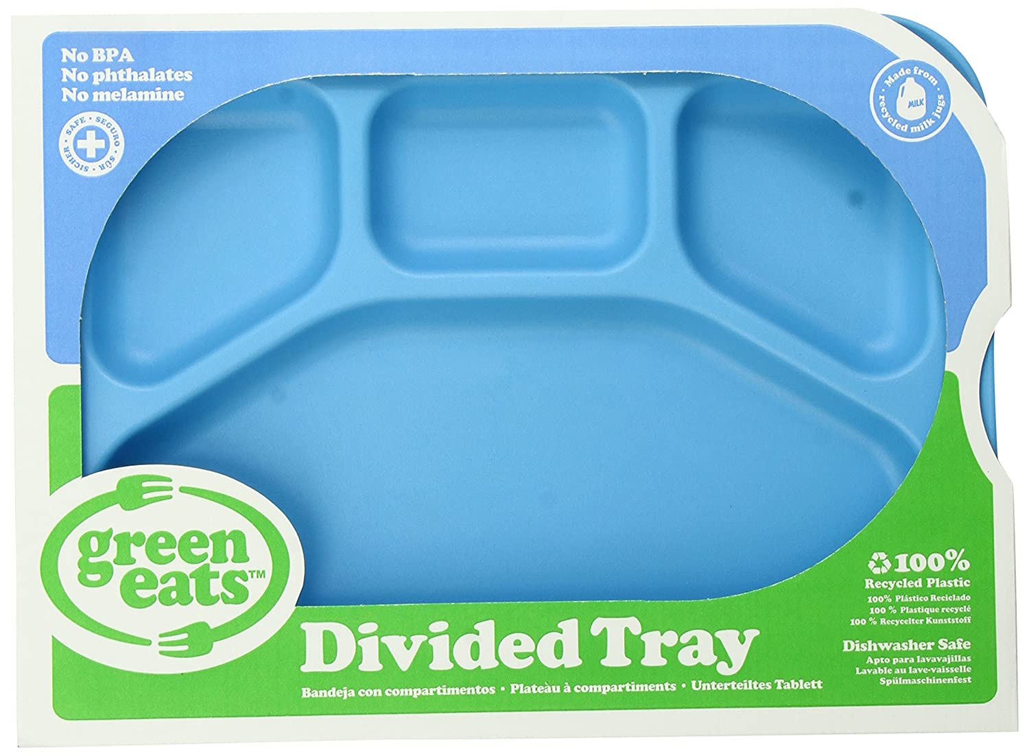 Green Eats Divided Tray, Blue Green Toys Inc TRYB-1506 Non-Classifiable