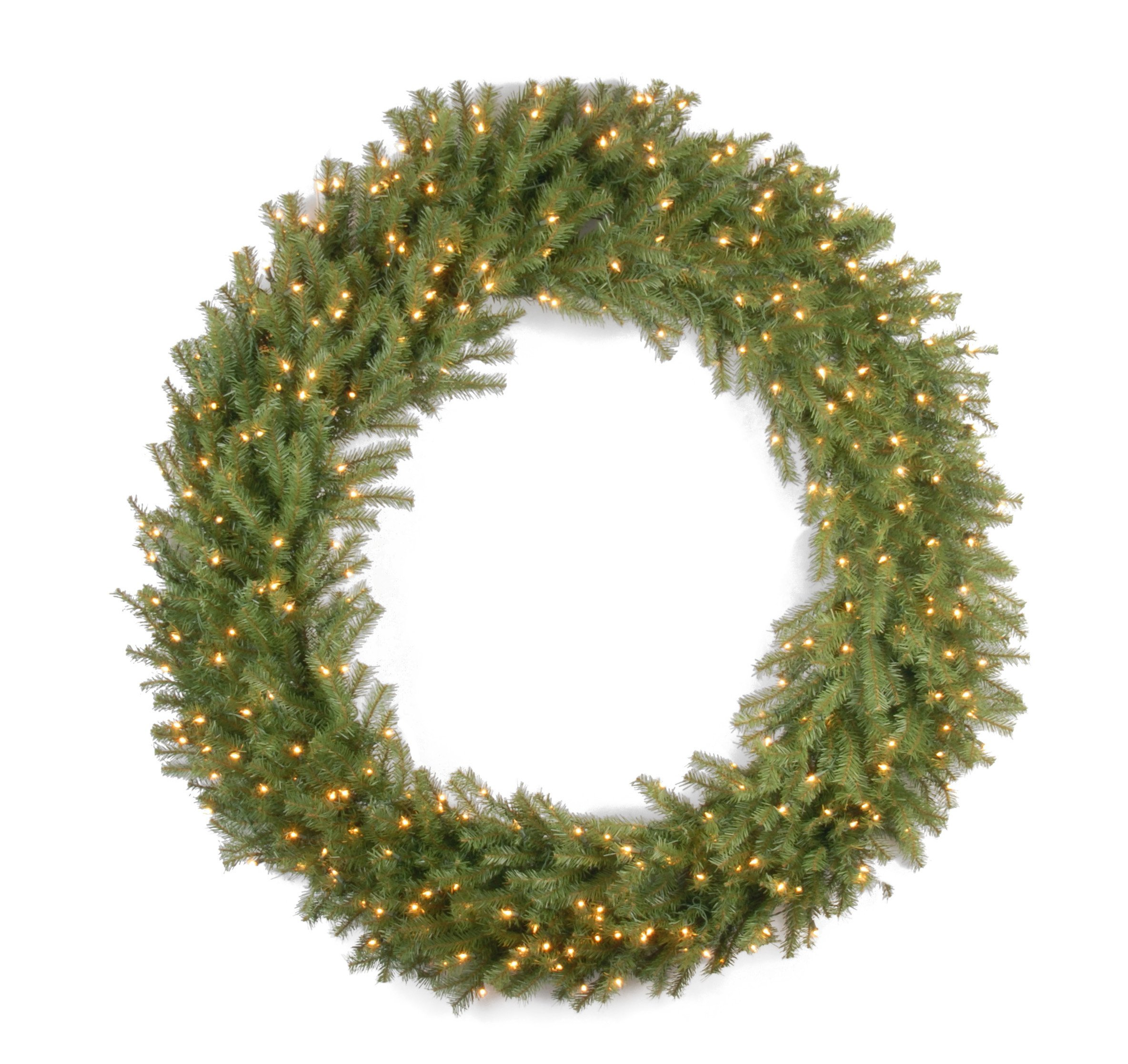 National Tree 60 Inch Norwood Fir Wreath with 300 Clear Lights (NF-60WLO) by National Tree Company