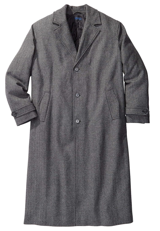 1920s Men's Coats & Jackets History KingSize Mens Big & Tall Wool-Blend Long Overcoat $77.27 AT vintagedancer.com
