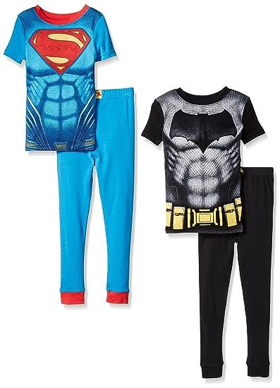 44feaa737 Amazon.com  Justice League Little Boys Superman VS Batman 4 Piece ...