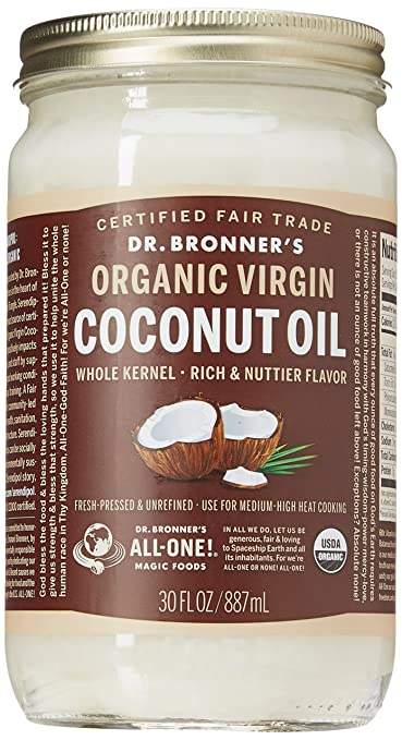 The Dr. Bronner's, Virgin Coconut Oil travel product recommended by Amanda Mutchie on Pretty Progressive.