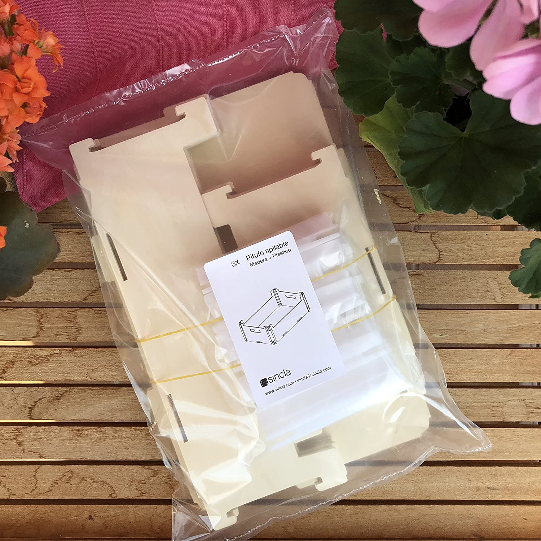 Cajas de Madera sin Tapa (Pack de 3) – Apilables: Amazon.es: Hogar