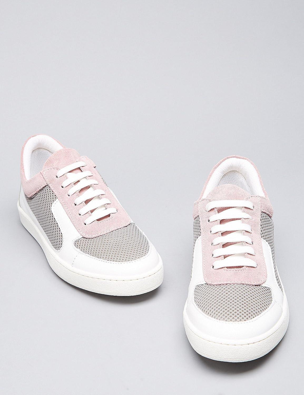 FIND Sneaker Atmungsaktivem Damen aus Leder und Atmungsaktivem Sneaker Mesh Mehrfarbig (Multicolor) 8c7a51