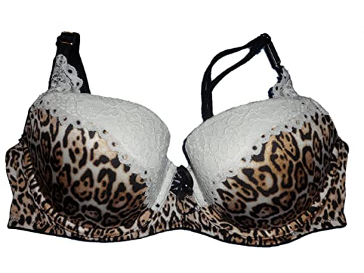 e630a1dd1b79a Victoria s Secret Very Sexy Push-Up Bra 32B Leopard White Lace Balconet