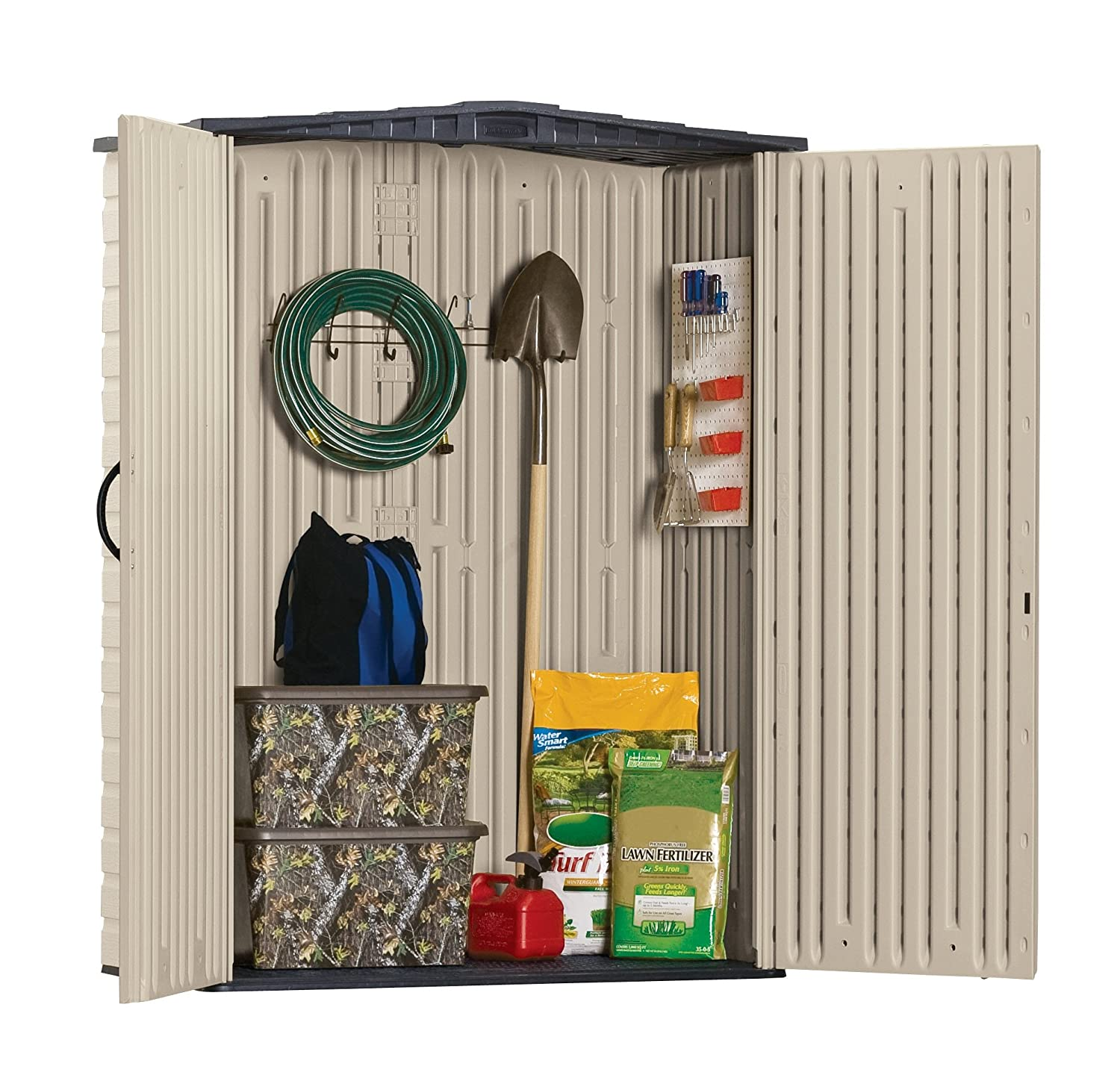 Amazon Rubbermaid Plastic Small Outdoor Storage Shed 53 Cubic