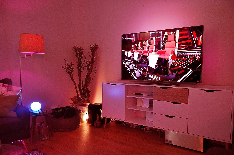 Philips Hue Go LED Leuchte Tragbares Kabelloses Licht Dimmbar Bis Zu 16 Millionen Farben Stuerbar Via App Kompatibel Mit Amazon Alexa Echo