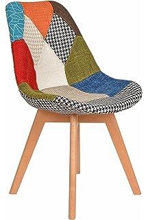 Ts Ideen 1 X Design Patchwork Sessel Wohnzimmer Küchen Stuhl Esszimmer Sitz  Holz Stoff Flicken