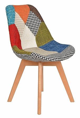 Wohnzimmer Flicken Esszimmer Patchwork Ts Stoff X Ideen Holz 1 Stuhl Design Küchen Sitz Bunt Sessel 4j35ALqR