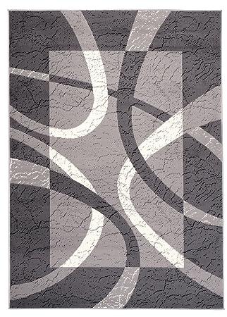 Designer Modern Teppich Braun Kurzflor 80x150 120x170 160x230 200x300 300x400