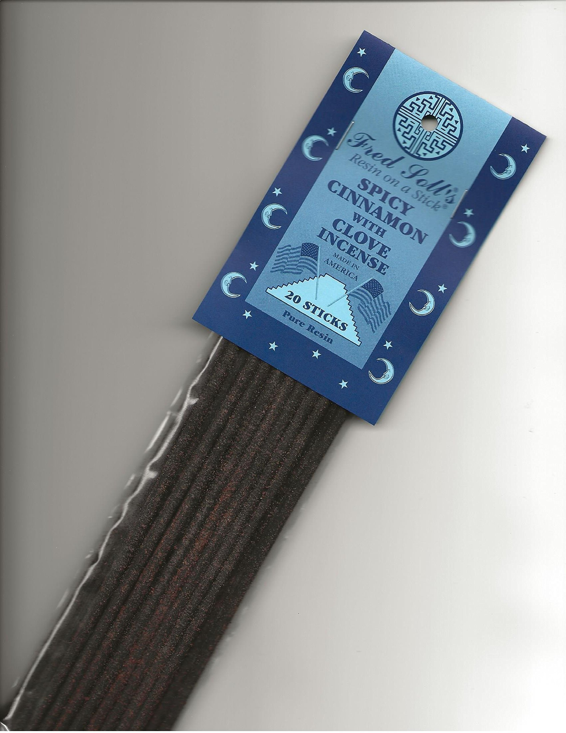 Fred Soll's RESIN ON A STICK Spicy Cinnamon with Clove Incense, 20 Sticks