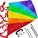 Large Diamond Kite for Kids - Lightweight, Easy to Assemble and Fly, Soars High in Low Wind Speeds - A Great Way to…
