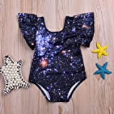 Angekids Baby Summer Dark Blue Starry Sky Print