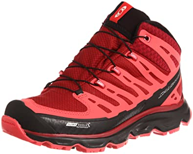 buying new buying now official site SALOMON Synapse Mid CS WP Damen Hiking-Schuhe, Rot/Schwarz ...