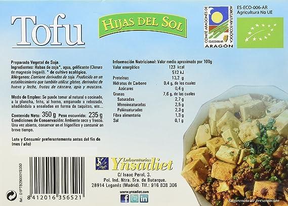 Hijas Del Sol Bio Tofu de Agricultura Ecolgica - 260 gr - [Pack de 6]