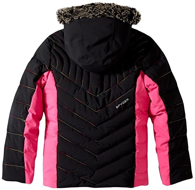 105b4cb036b0 Amazon.com   Spyder Girls Hottie Faux Fur Ski Jacket   Clothing