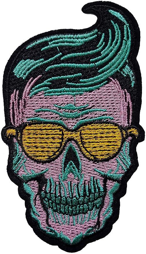 11 x 6,1 Cabeza Muerte Cabello plátano Elvis Presley Gafas ...
