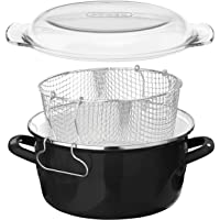 Premier Housewares 6 X 33 X 27 cm 5 L Deep Fryer with Pyrex Lid, Black_Parent