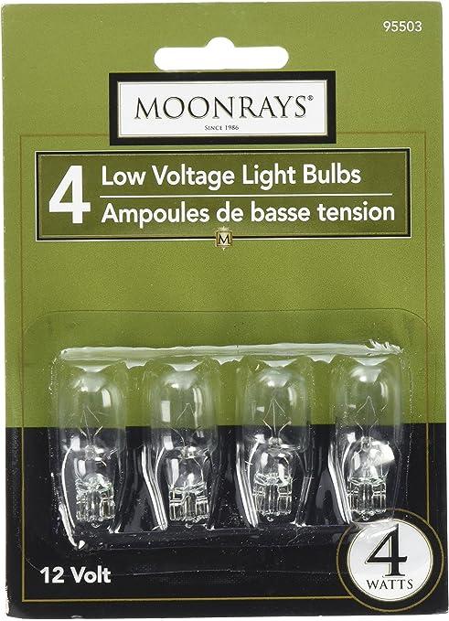 4-Pack Moonrays 11692 4-Watt Green Glass T5 Wedge Base Incandescent Light Bulb