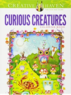 Creative Haven Curious Creatures Coloring Book Books