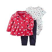 Carter's Baby Girls' 3 Piece Little Jacket Set 3 Months